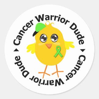 Non Hodgkins Lymphoma Warrior Dude Round Stickers
