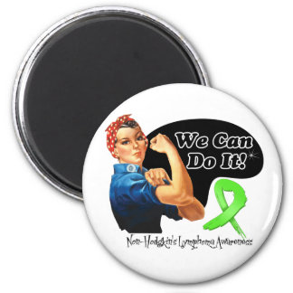 Non-Hodgkins Lymphoma We Can Do It Rosie The Rivet 6 Cm Round Magnet