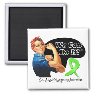 Non-Hodgkins Lymphoma We Can Do It Rosie The Rivet Refrigerator Magnet