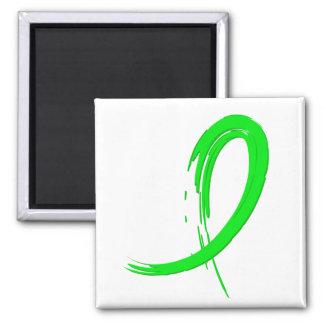 Non-Hodgkin's Lymphoma's Lime Green Ribbon A4 Square Magnet