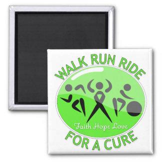 Non-Hodgkin's Walk Run Ride For A Cure Fridge Magnet
