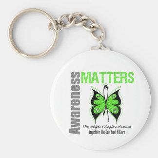 Non Hodkins Lymphoma Awareness Matters Keychain
