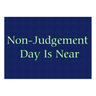 Non-Judgement Day Is Near Business Card Template
