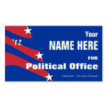 Non Partisan - Political Election Campaign Pack Of Standard Business Cards