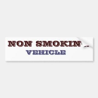 NON SMOKING VEHICLE BUMPER STICKER
