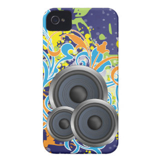 non stop music stylish with speakers iPhone 4 Case-Mate cases