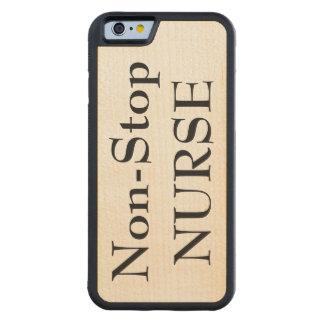 Non-Stop Nurse maple wood phone case