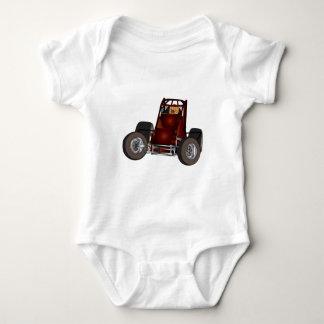 Non-wing sprint car #1 baby bodysuit