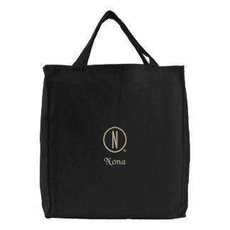 Nona's Embroidered Tote Bag