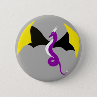Nonbinary Dragon 6 Cm Round Badge