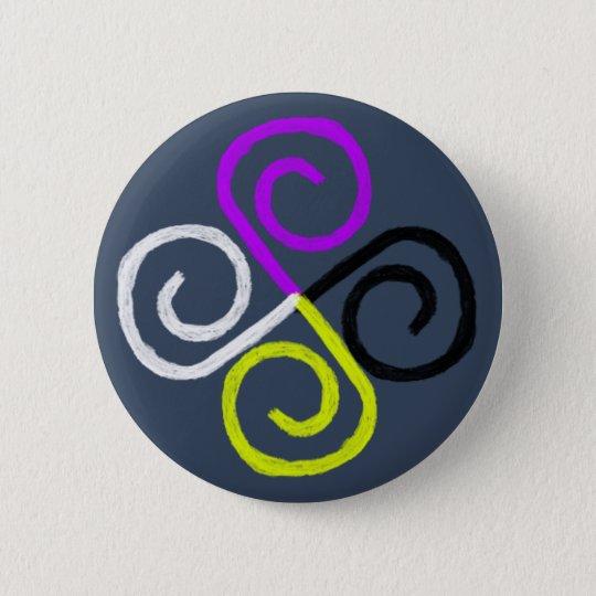 Nonbinary Pride 6 Cm Round Badge