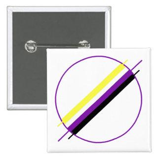 Nonbinary Pride Pin