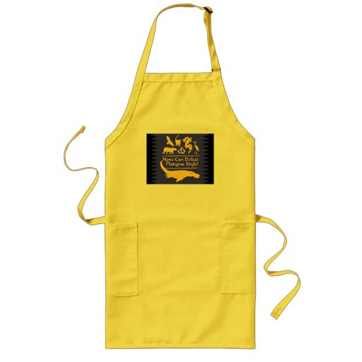 None Can Defeat Platypus Style! Apron