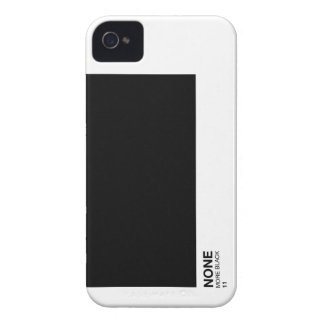 None more black, Spinal Tap Pantone style iphone iPhone 4 Cover