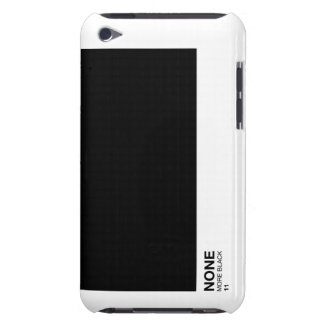 None more black, Spinal Tap Pantone style ipod Barely There iPod Cover