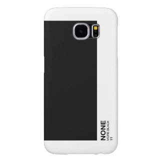 None more black, Spinal Tap Pantone style samsung Samsung Galaxy S6 Cases