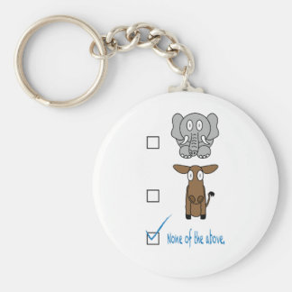 None of the Above Basic Round Button Key Ring