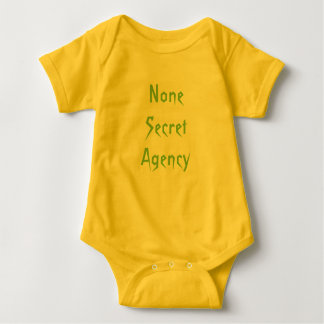 None Secret Agency Baby Bodysuit