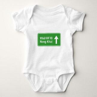 Nong Khai Ahead ⚠ Thai Highway Traffic Sign ⚠ Baby Bodysuit