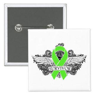 NonHodgkins Lymphoma Winged SURVIVOR Ribbon Pin