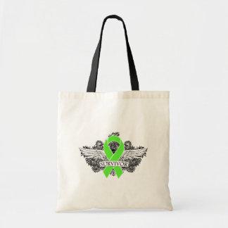 NonHodgkins Lymphoma Winged SURVIVOR Ribbon Bags