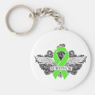 NonHodgkins Lymphoma Winged SURVIVOR Ribbon Key Chain