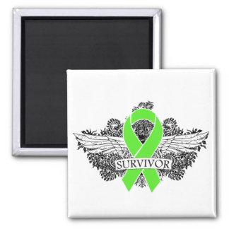 NonHodgkins Lymphoma Winged SURVIVOR Ribbon Refrigerator Magnets