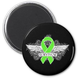 NonHodgkins Lymphoma Winged SURVIVOR Ribbon Magnets