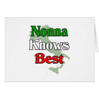 Nonna (Italian Grandmother)m Knows Best Card