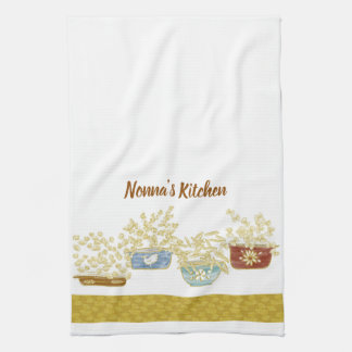 Nonna's Kitchen Customisable Towel With Pasta Bowl