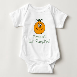Nonna's Little Pumpkin Baby Bodysuit