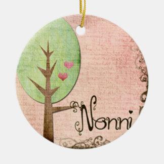 nonni heart tree pink christmas ornament