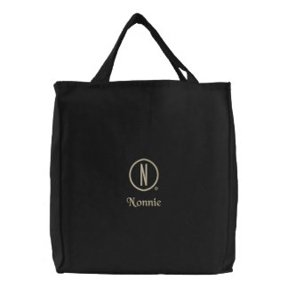 Nonnie's Embroidered Tote Bag