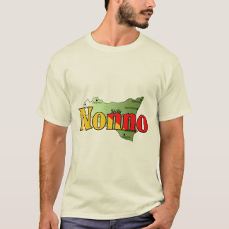 Nonno with Map of Sicily T-Shirt