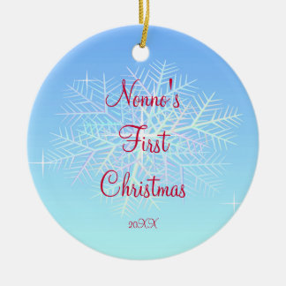 Nonno's First  Christmas Snowflake Ornament