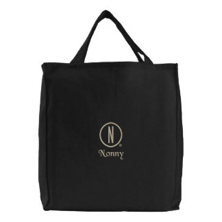 Nonny's Embroidered Tote Bag