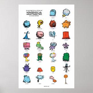 Nonsensical Monstrosities Poster
