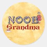 NooB Grandma Round Stickers