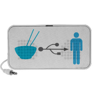 Noodle efficiency input system mini speakers