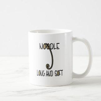 Noodle Long and Soft Basic White Mug