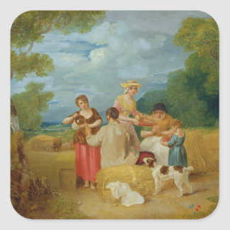 Noon, 1799 (oil on canvas) square sticker