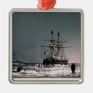 Noon: In Mid-Winter, Port Leopold, from 'Ten Colou Silver-Colored Square Decoration