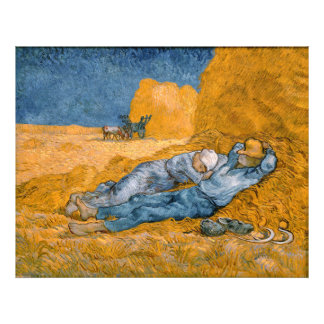 Noon, Rest From Work After Millet Vincent Van Gogh Photo