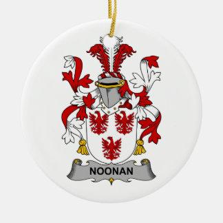 Noonan Family Crest Christmas Ornament