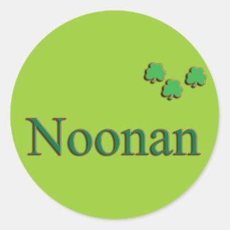 Noonan Family Round Sticker