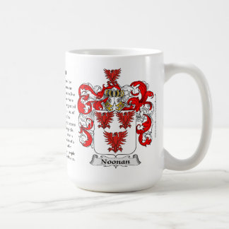 Noonan, the Origin, the Meaning and the Crest Coffee Mugs
