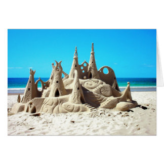 Noosa Beach Sandcastle Card