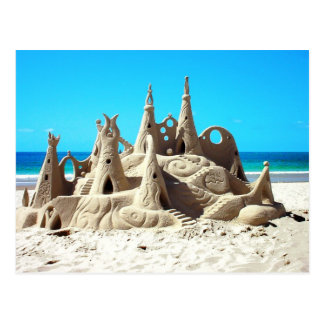 Noosa Beach Sandcastle Postcard