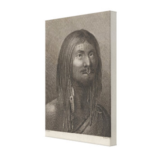 Nootka Man, British Columbia Canvas Print