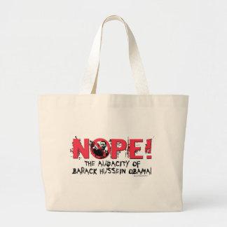 Nope Anti Obama Gear '08 Jumbo Tote Bag